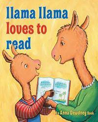 llama loves books