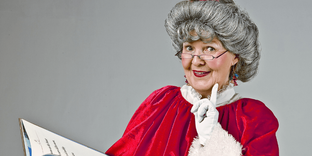 Mrs. Claus reading