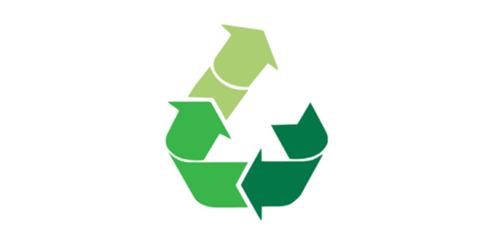 green arrows in upcycle symbol
