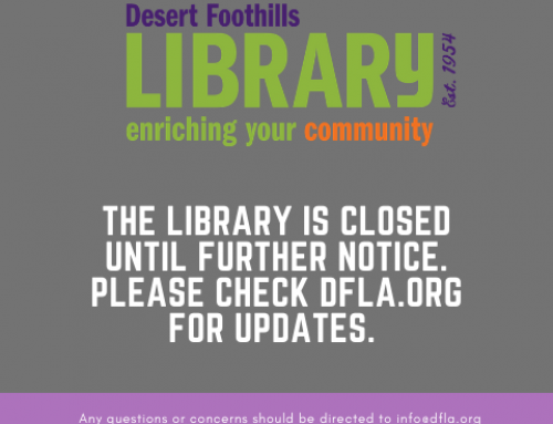 Library Closed Until Further Notice